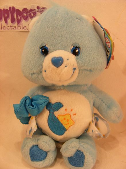 "BNWT COLL EDT 8"" BABY TUGS CAREBEAR CARE BEARS BEANIE"